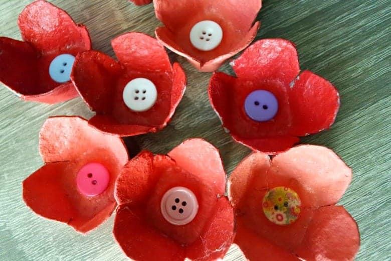 τρισδιάστατα λουλούδια από αυγοθήκες