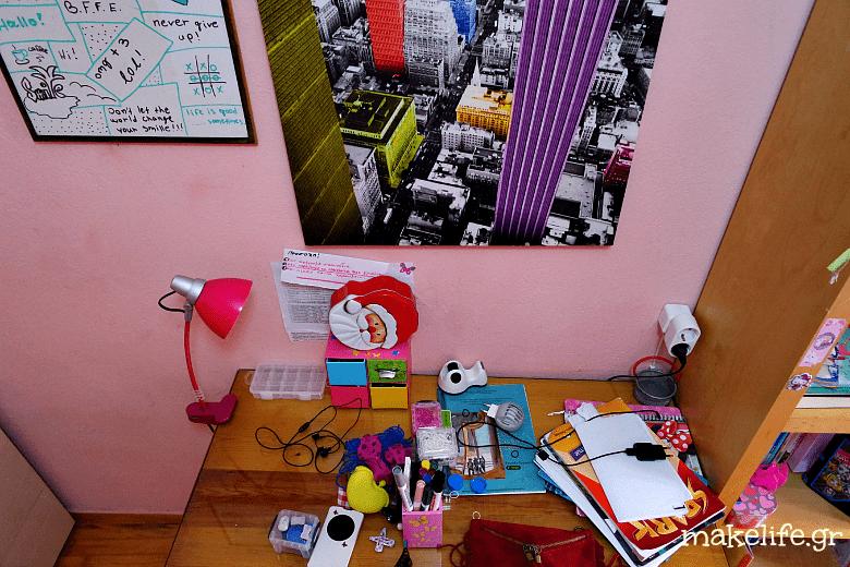 ένα ακατάστατο γραφείο