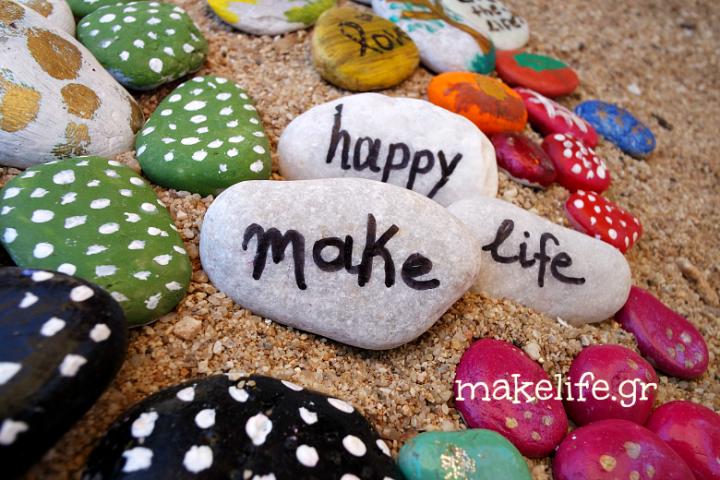 Παιχνιδιάρικη ζωγραφική σε πέτρες και βότσαλα