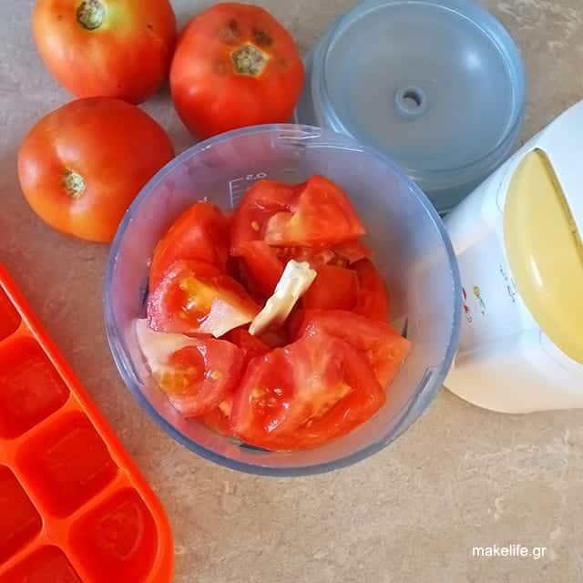 Ντομάτα στην Κατάψυξη σε Παγάκια