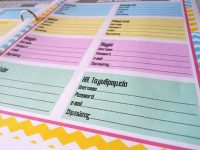 Εκτυπώσιμη λίστα για να οργανώσεις τους κωδικούς σου