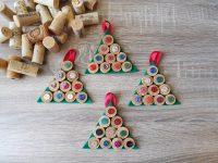 Εναλλακτικά Χριστουγεννιάτικα στολίδια από φελλό