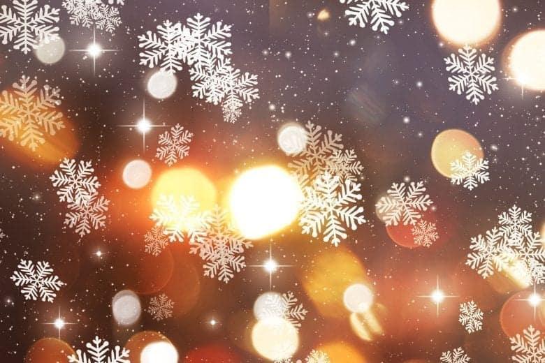 Αφηρημένη Χριστουγεννιάτικη Ταπετσαρία με Χιονονιφάδες και Φώτα