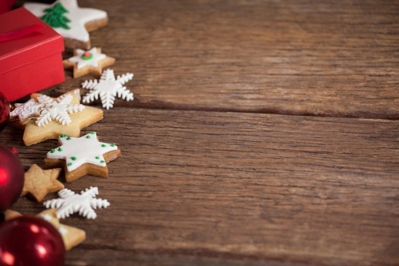 Χριστουγεννιάτικο Θέμα Ταπετσαρίας σε Ξύλινη Επιφάνεια