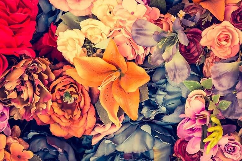 Ανοιξιάτικη Ταπετσαρία Λουλούδια Vintage