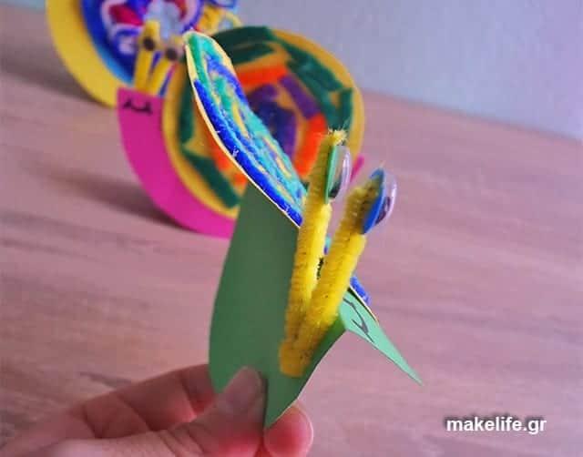 Σαλιγκάρια με χαρτόνι. Βήματα κατασκευής