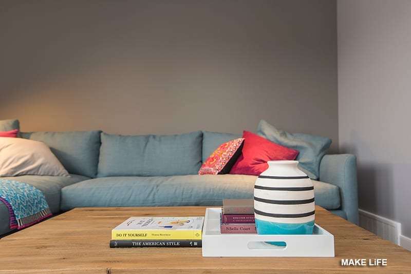 Το γκρι χρώμα στο σαλόνι
