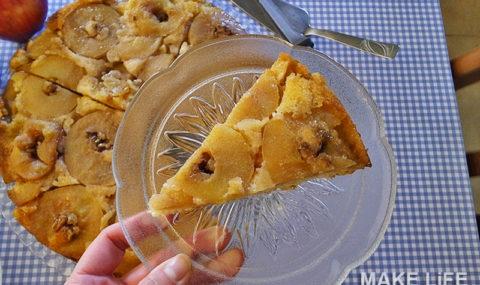 Φτιάχνουμε ανάποδη μηλόπιτα. Η συνταγή βήμα βήμα